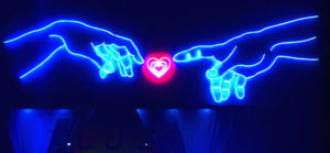 Neon Hands and Heart | Luz Art Los Angeles, CA