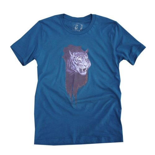 Nosego | Tiger Strokes Tee (Dark Teal) | Shirt | Luz Art Los Angeles, CA