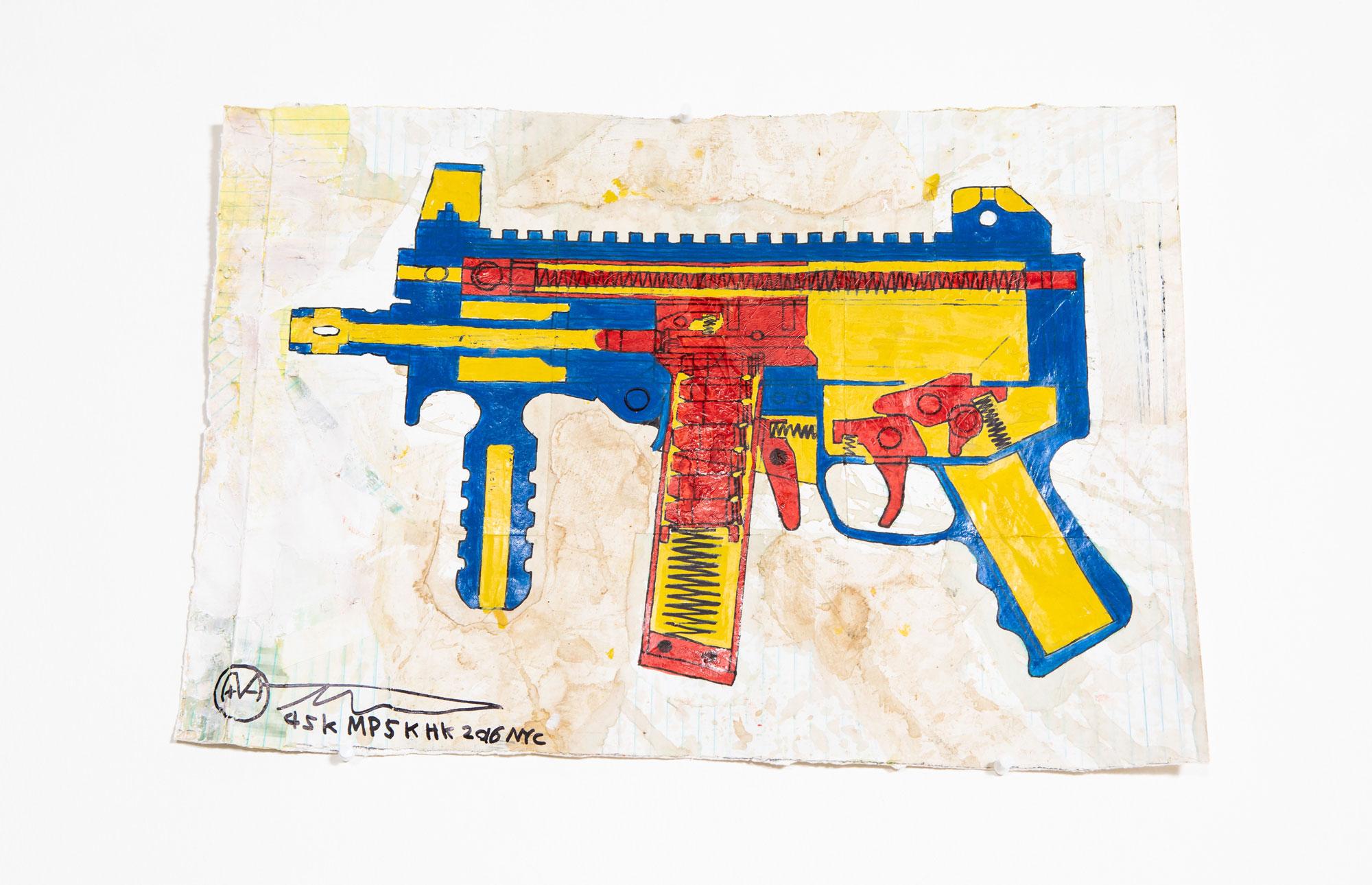 MP5KHK (Heckler & Koch MP5K), 2016   Alfred Martinez   Luz Art Los Angeles, CA