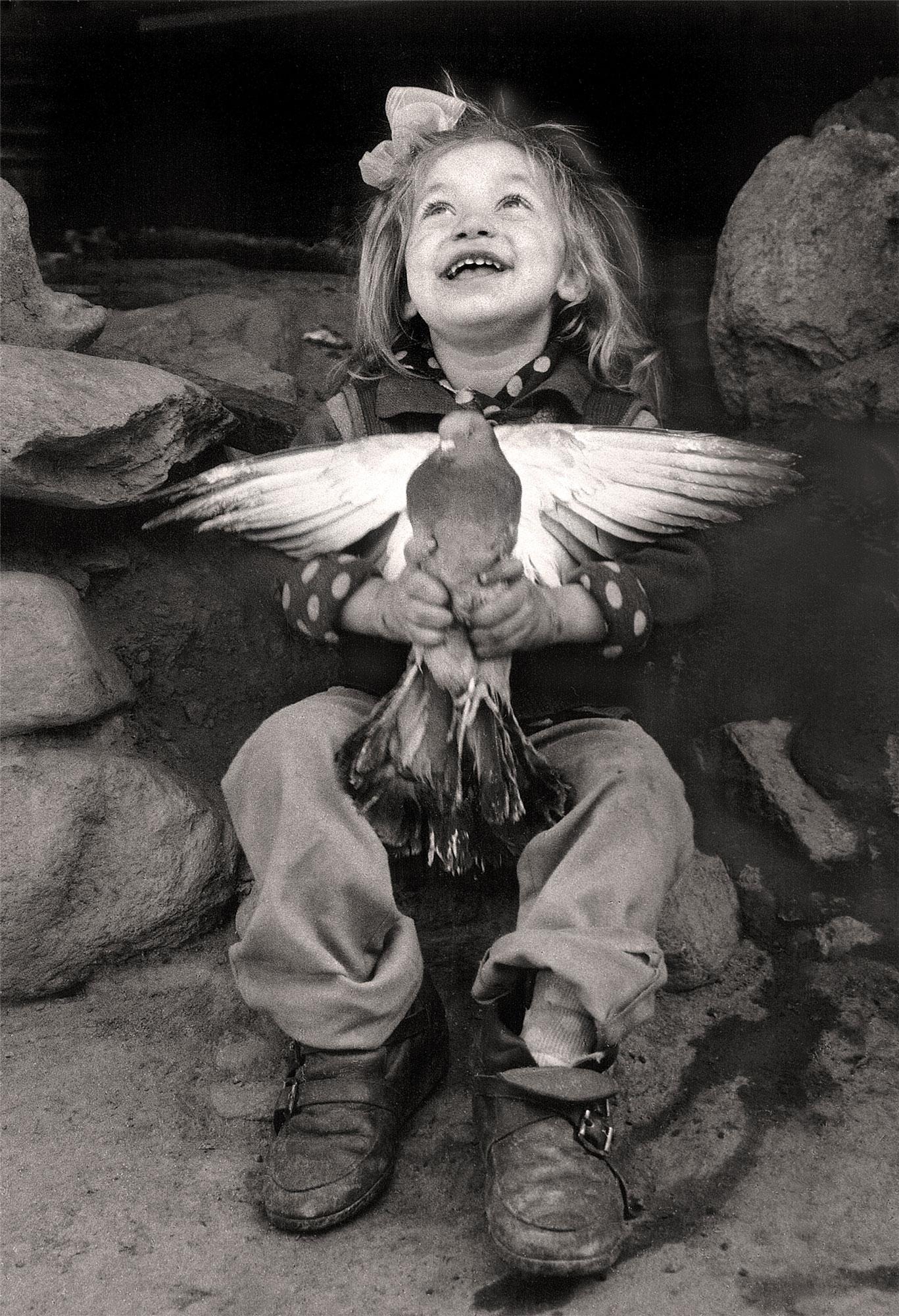 The Girl With The Dove | Jacko Vassilev – The Joy of Freedom | Luz Art Los Angeles, CA